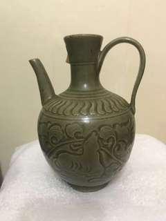 耀州窰青釉壺