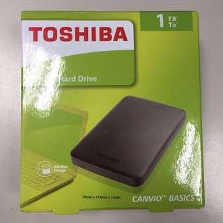 保固中 Toshiba 1TB USB3.0 2.5吋行動硬碟