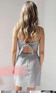 Summer Dress Blue Stripes Bali