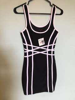 Guess dress black and white womens new