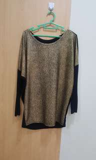 Gold shimering top