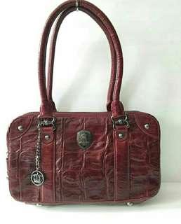 Preloved Tas Bag Toscano Merah Authentic Original