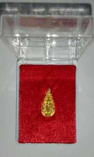 Thai Buddha Amulet Wat Phikuntong mini Phra Luangpho Size 20X10 mm Singburi Province