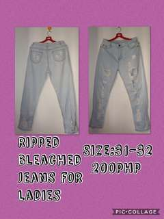 Preloved ripped jeans