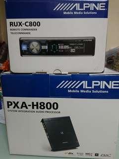 Alpine PXA-H800 + RUX-C800