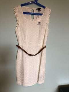 White lace women's dress size xs new