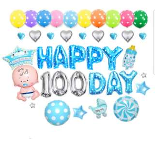 Happy 100 Days Birthday Balloons