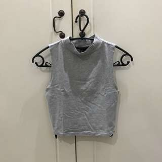 FOREVER 21 Cropped Turtle Neck Tank