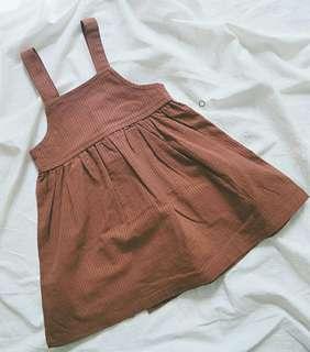 🚚 韓版棉質吊帶裙120公分(含運)