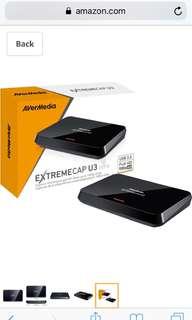 AVerMedia ExtremeCap U3, Full HD USB Video Capture Card, High Definition 1080p 60fps Recorder, Ultra Low Latency, Win 10 (CV710)