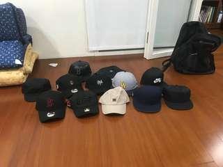 眾多品牌帽子 nike new era 老帽 一起帶有便宜