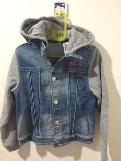Denim hoody jacket