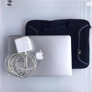 Macbook Air 11 inch with charger and casing