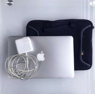 Apple Macbook Air 11 inch with charger and casing