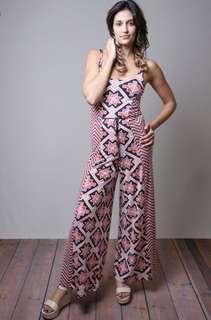 Tigerlily printed jumpsuit romper onesie size 6 brand new retail value $295
