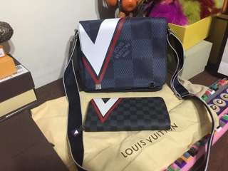 LV sling set with wallet