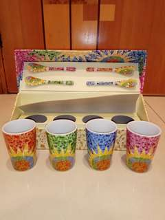 (sold in other gp) Tea cups with tea spoons set