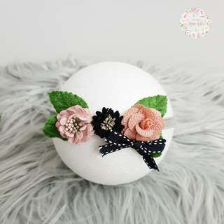 🚚 Triplet flower headband for baby and kids