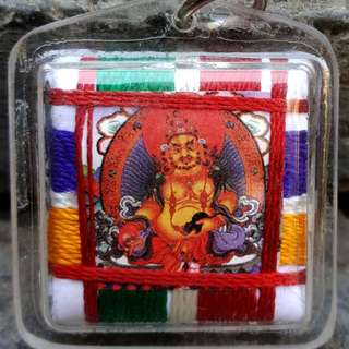 Vesak day special (Tibetan paper amulets) (Yellow Dzambhala Buddha chakra)