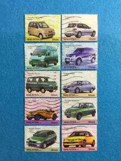 2001 Malaysian Made Cars 10V Used Set