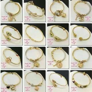 18k Saudi Gold Bangles