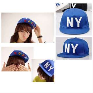 NY (blue) Hip Pop SnapBack Hat & Cap