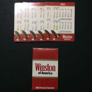 Vintage Winston calendar 1983