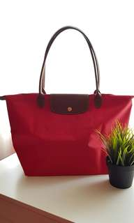 Longchamp Le Pliage Long Handle (Garance)