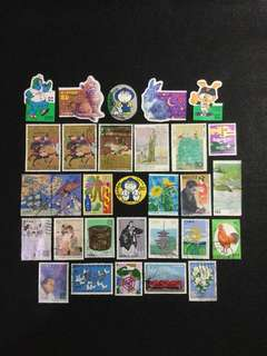D.Japan 30 Different  Used Stamps  (Lot D)