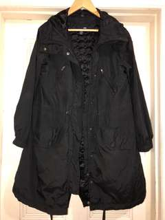 Size 6 H&M black hooded coat