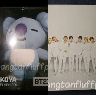 OFFICIAL BT21 Koya Plush Doll + Mediheal Group Photocard (and other freebies)