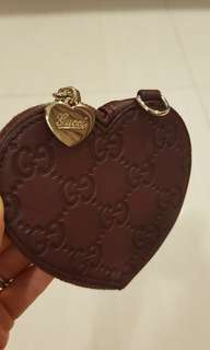 Authentic Gucci Heart shaped coin wallet