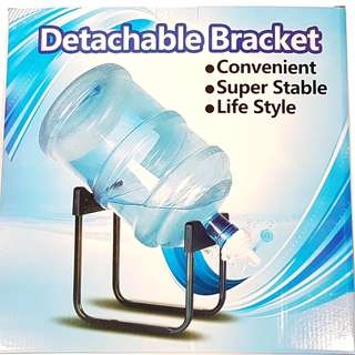 Detachable Bracket for Water Gallon with Faucet Dispenser