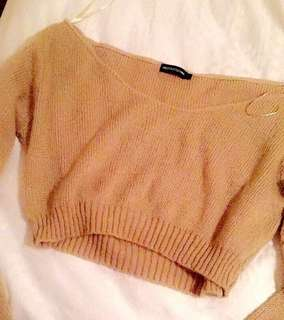 Off Shoulder knitted sweater size M