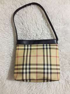 Authentic Burberry Nova Check Haymarket Vinyl Mini Tote bag
