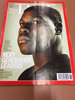 TIME MAGAZINE Double Issue : topics include Next Generation Leaders (Star Wars' John Boyega and 9 more); How universities lost control