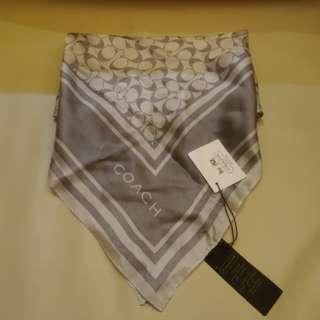全新正貨Coach女裝方形絲巾