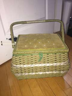 Green Knitting Basket