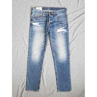 32腰 Hollister HCO 海鷗 自然刷破水洗 小破壞 潮流窄管 窄版 牛仔褲 休閒褲 二手 長褲