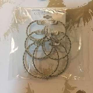 SALE✨ 3 pairs set. Loop / Hoop earrings