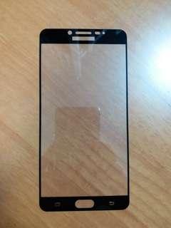 Samsung C9 Pro 全屏覆蓋黑色鋼化h9防爆mon貼