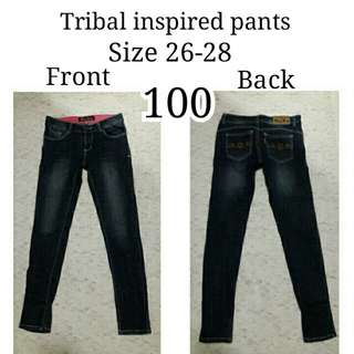 Tribal inspired pants