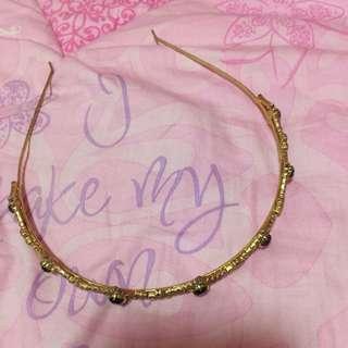 Gold Stainless and Diamond Design Headband