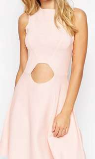 ASOS knit pink dress with cut out