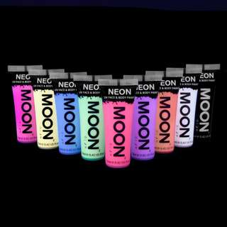 Moon Glow- Pastel UV Blacklight Face Paint Set of 9