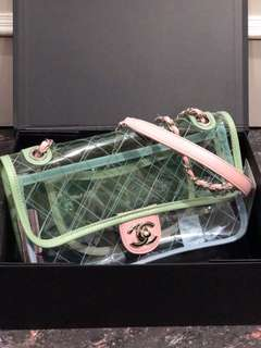 Ramadhan sale! chanel pvc 23cm mirror replica bag