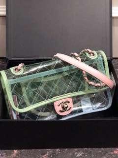 Ramadhan sale! chanel pvc 23cm mirror replica bag