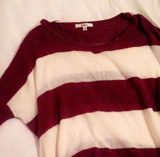 Striped thin knitted top
