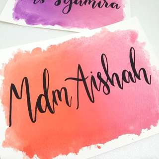 Watercolour Calligraphy Cards