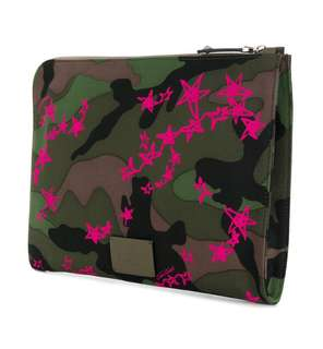 Valentino Garavani Zandra Rockstud zipped laptop pouch